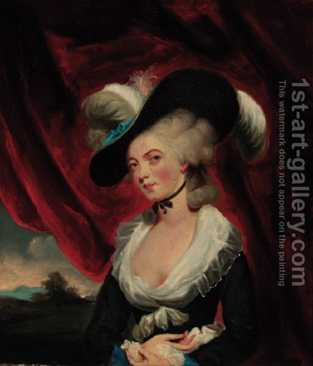 Portrait of Mrs Robinson 2 by (after) Sir Joshua Reynolds - Reproduction Oil Painting