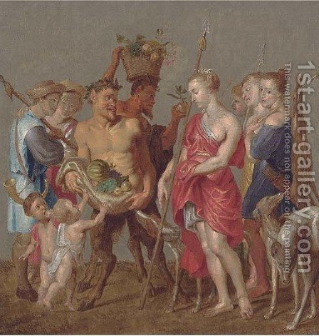 Diana the huntress by (after) Sir Peter Paul Rubens - Reproduction Oil Painting