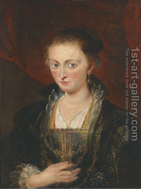 Portrait of a lady by (after) Sir Peter Paul Rubens - Reproduction Oil Painting