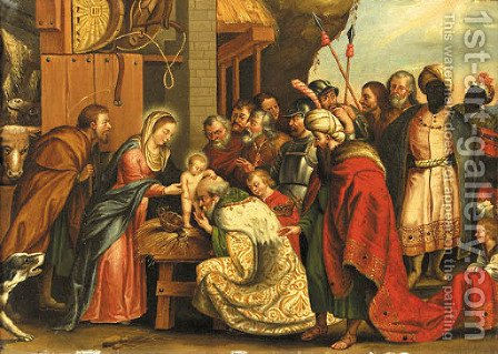 The Adoration of the Magi 2 by (after) Sir Peter Paul Rubens - Reproduction Oil Painting