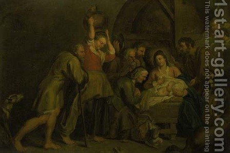 The Adoration of the Shepherds 3 by (after) Sir Peter Paul Rubens - Reproduction Oil Painting