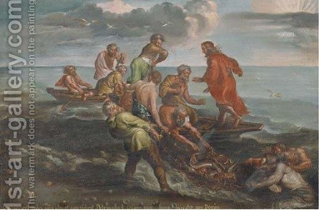 The Miraculous Draught of Fishes 2 by (after) Sir Peter Paul Rubens - Reproduction Oil Painting