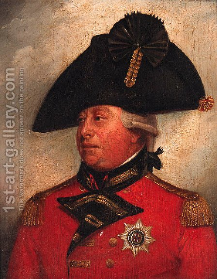 Portrait of George III, small quarter-length, in uniform by (after) Sir William Beechey - Reproduction Oil Painting
