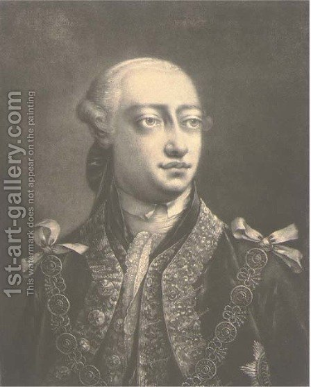His Majesty George III by (after) Thomas Frye - Reproduction Oil Painting