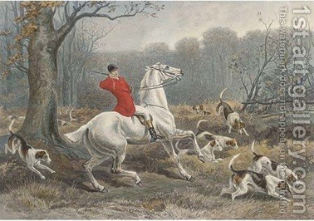 Fore's Hunting incidents by (after) William H. Hopkins - Reproduction Oil Painting