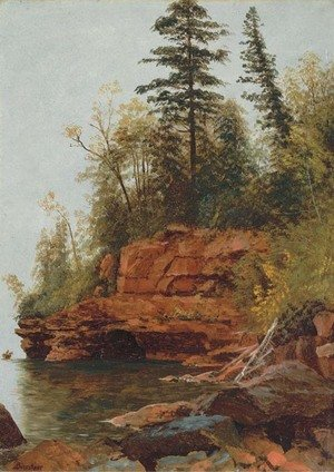 Reproduction oil paintings - Albert Bierstadt - A Rocky Cove