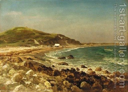 Coastal Scene by Albert Bierstadt - Reproduction Oil Painting