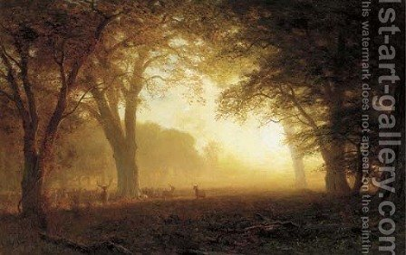 Golden Light of California by Albert Bierstadt - Reproduction Oil Painting