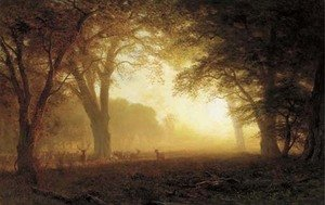 Reproduction oil paintings - Albert Bierstadt - Golden Light of California