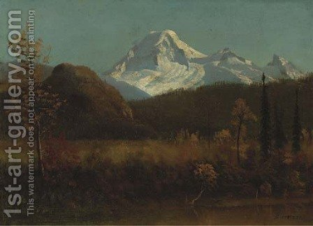 Landscape 3 by Albert Bierstadt - Reproduction Oil Painting
