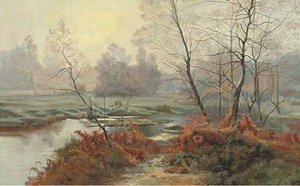 Albert Gabriel Rigolot reproductions - A woodland stream