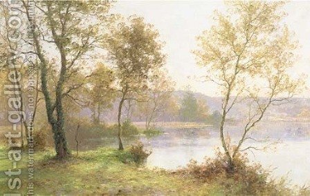 An autumn landscape by Albert Gabriel Rigolot - Reproduction Oil Painting