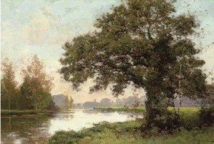 Reproduction oil paintings - Albert Gabriel Rigolot - River landscape