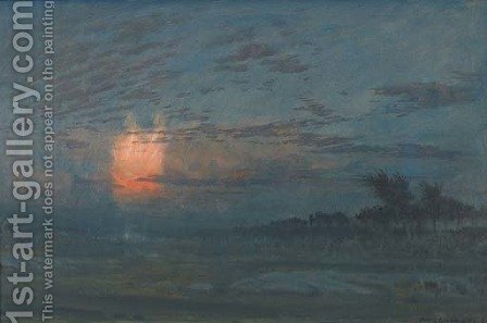 A Night in the Camp of Israel by Albert Goodwin - Reproduction Oil Painting