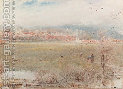 Arundel, West Sussex by Albert Goodwin - Reproduction Oil Painting