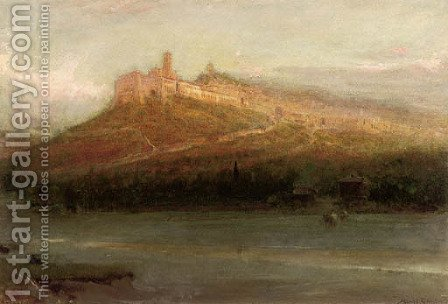 Assisi, Italy by Albert Goodwin - Reproduction Oil Painting
