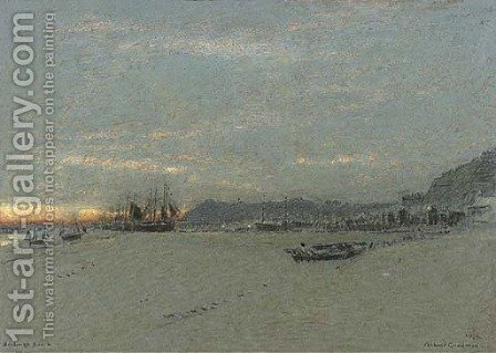 Hastings Beach by Albert Goodwin - Reproduction Oil Painting