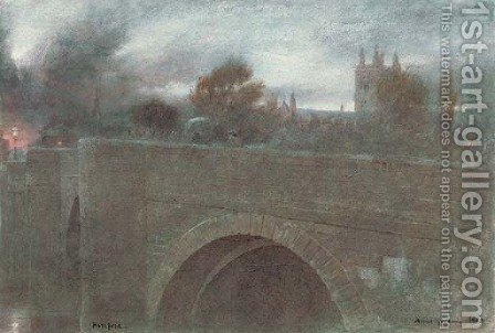 Hereford by Albert Goodwin - Reproduction Oil Painting