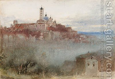 Siena, Italy by Albert Goodwin - Reproduction Oil Painting