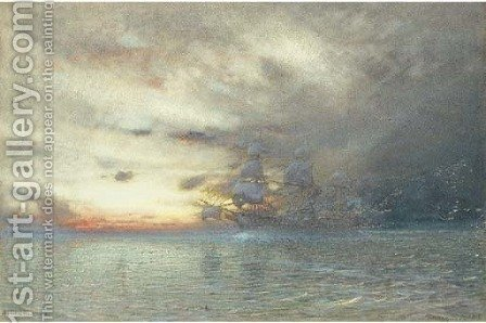 The Spirit of the Storm by Albert Goodwin - Reproduction Oil Painting
