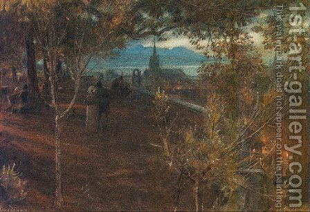 View of Lausanne by Albert Goodwin - Reproduction Oil Painting