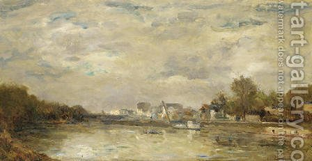 Le Canal by Albert Lebourg - Reproduction Oil Painting