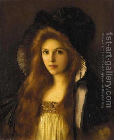 Albert Lynch: Beautiful Betty - reproduction oil painting