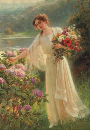 Reproduction oil paintings - Albert Lynch - The Morning Walk