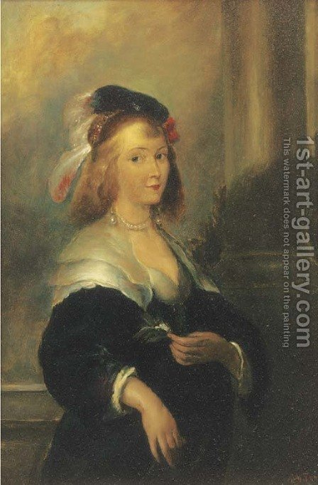 Portrait of a lady by Albert Terneu - Reproduction Oil Painting