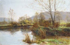 Reproduction oil paintings - Albert Gabriel Rigolot - A meandering river