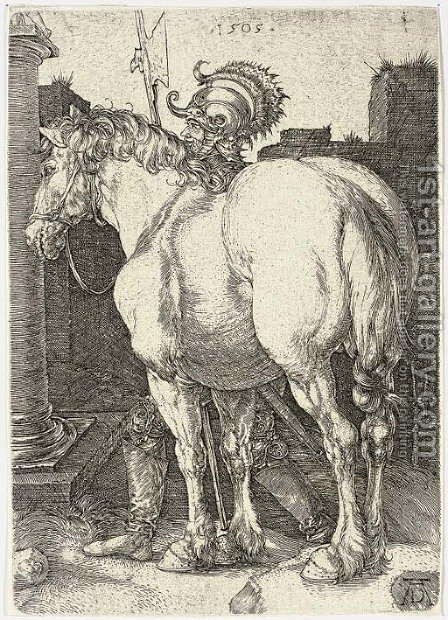 The Large Horse 2 by Albrecht Durer - Reproduction Oil Painting