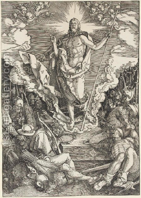 The Resurrection, from The Large Passion by Albrecht Durer - Reproduction Oil Painting