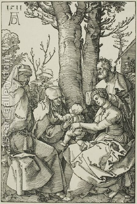 The Holy Family with Joachim and Saint Ann by Albrecht Durer - Reproduction Oil Painting