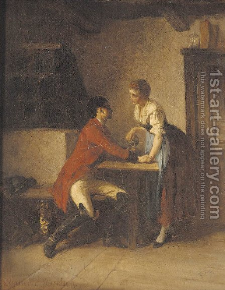 The proposal by Albrecht Grueber - Reproduction Oil Painting
