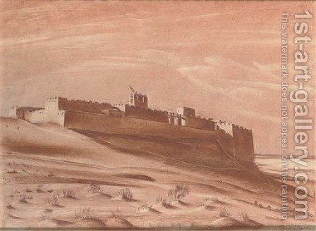 A desert fort by Alexander Evgenievich Yakovlev - Reproduction Oil Painting