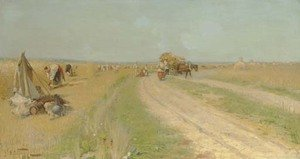 Reproduction oil paintings - Aleksandr Vladimirovich Makovsky - Haymaking