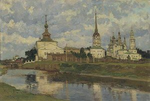 Reproduction oil paintings - Aleksandr Vladimirovich Makovsky - View of Russian church, Perm