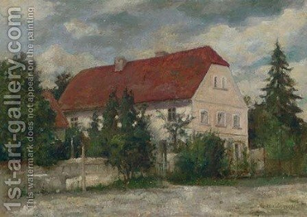 Landscape with House by Alexei Alexeivich Harlamoff - Reproduction Oil Painting