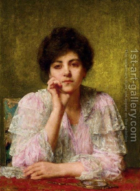 Young Beauty by Alexei Alexeivich Harlamoff - Reproduction Oil Painting