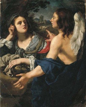 Alessandro Rosi reproductions - Hagar and the Angel