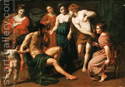 Hercules slaying the Children of Megara by Alessandro Turchi (Orbetto) - Reproduction Oil Painting