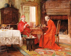 Famous paintings of Chess: A game of chess