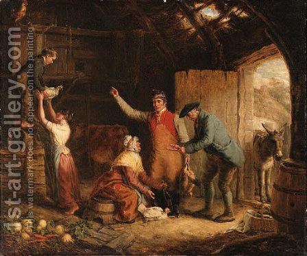 The poultry buyer by Alexander Snr Fraser - Reproduction Oil Painting