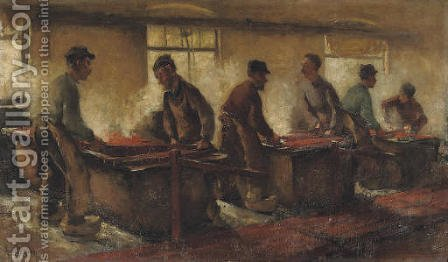 De Krabbers by Alexander Gerhard Anton Ridder Van Rappard - Reproduction Oil Painting