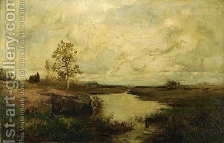 Marsh Landscape by Alexander Helwig Wyant - Reproduction Oil Painting