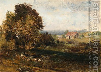 Landscape by Alexander Helwig Wyant - Reproduction Oil Painting