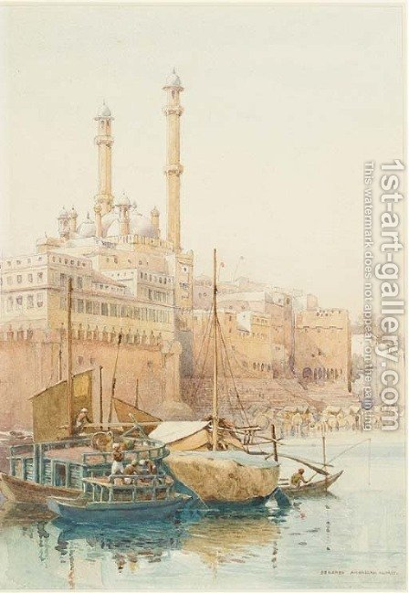 Benares, India by Alexander Henry Hallam Murray - Reproduction Oil Painting