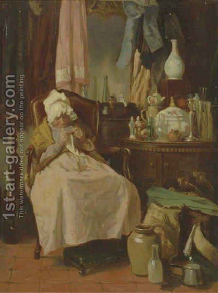 La marchande de bric-a-brac by Alexander Hugo Bakker Korff - Reproduction Oil Painting