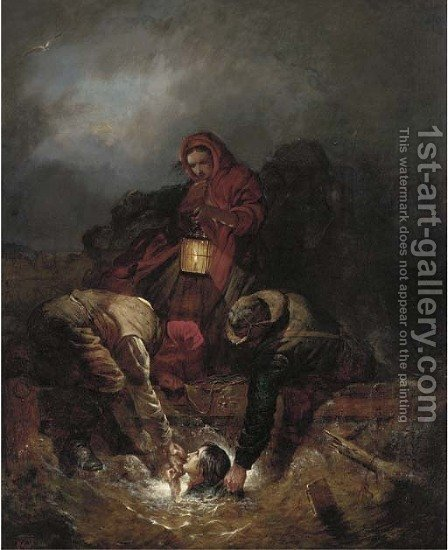 Saved from the wreck by Alexander Leggett - Reproduction Oil Painting