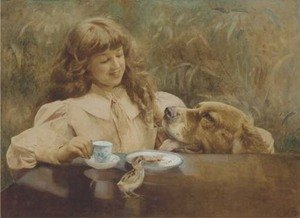 Reproduction oil paintings - Alexander M. Rossi - Loyal companions